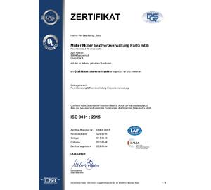 Zertifikat • Müller   Müller Insolvenzverwaltung